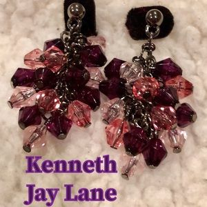Kenneth Jay Lane Fiesta Hoop Earrings authentic